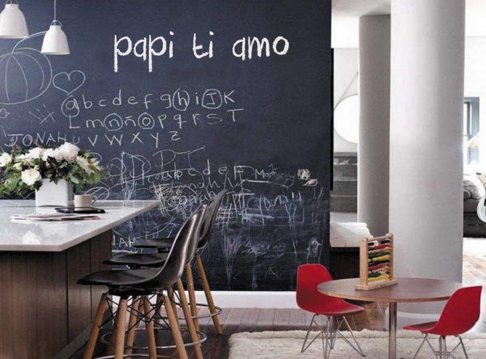 Pareti Di Lavagna : Pareti e superfici scrivibili ad effetto lavagna arredare con stile