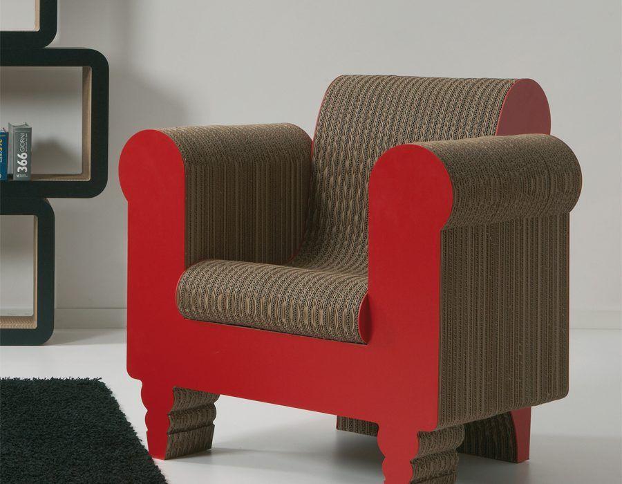 I mobili e complementi in cartone di kubedesign arredare con stile - Mobili in cartone design ...
