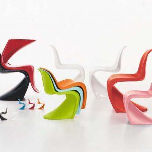 Sedia Panton chair un'icona del design prodotta da Vitra