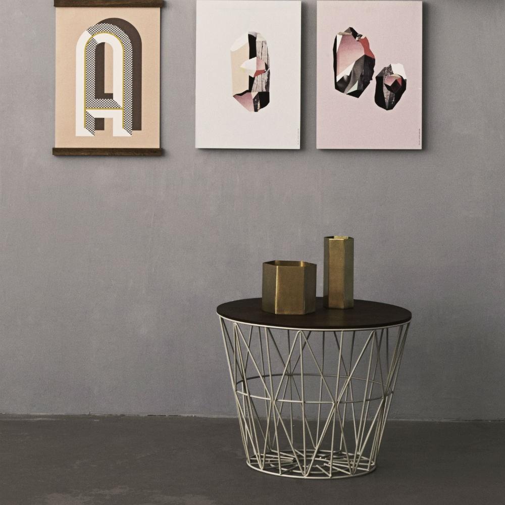 wire basket tavolino design