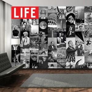 Una parete iconica con la carta da parati LIFE icons collage