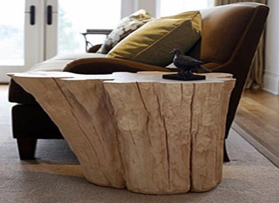 Tavolino Divano Ceppo Legno Massello Designathome Arredamento E Lifestyle