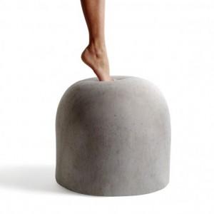 Bard: il pouf in tessuto stampato finto cemento di internoitaliano