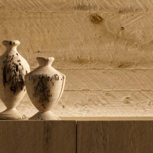 Boiserie rivestimento pareti in legno piallato a mano