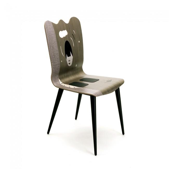 sedia arte gufo valcucine