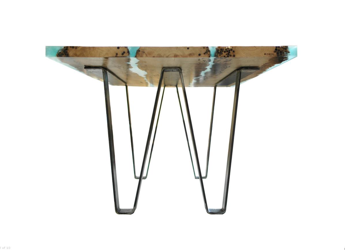 Tavolo Legno E Resina Prezzo tavoli di design in legno di briccole e resina