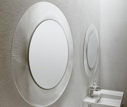 Specchio Grande Da Bagno.All Saints Di Kartell Un Grande Specchio Circolare Per Arredare