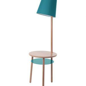 Un comodino moderno con lampada incorporata