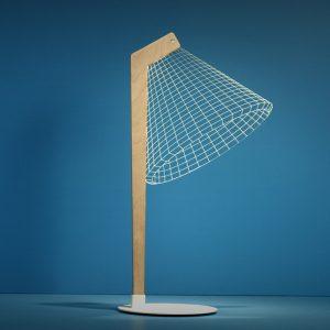 La lampada da tavolo con effetto 3d di Studio Cheha