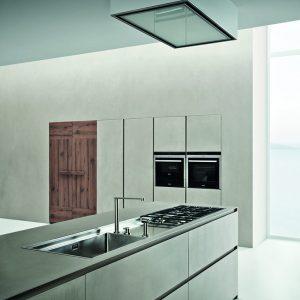 Cucine Zamperi Line K: urban look con resina di cemento