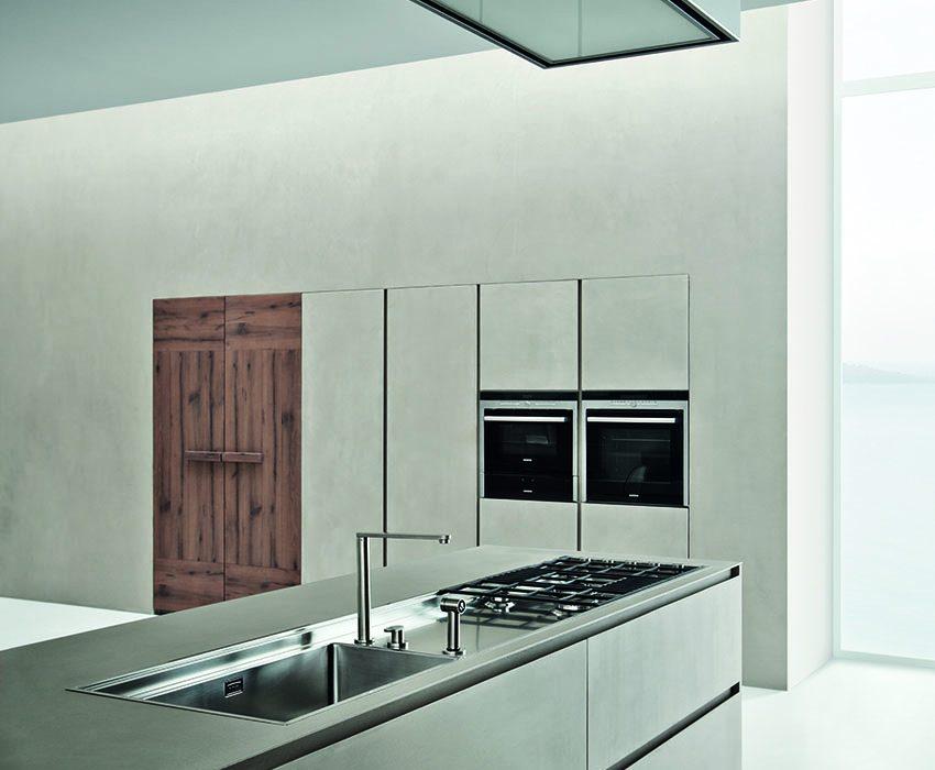 Cucine Zamperi Line K: urban look con resina di cemento ...
