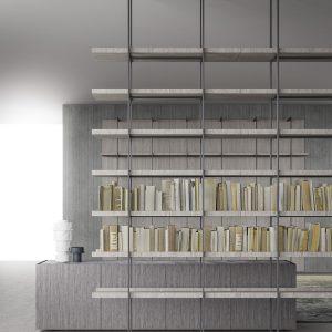 """Libreria modulare """"Segni Living"""" di Zampieri"""
