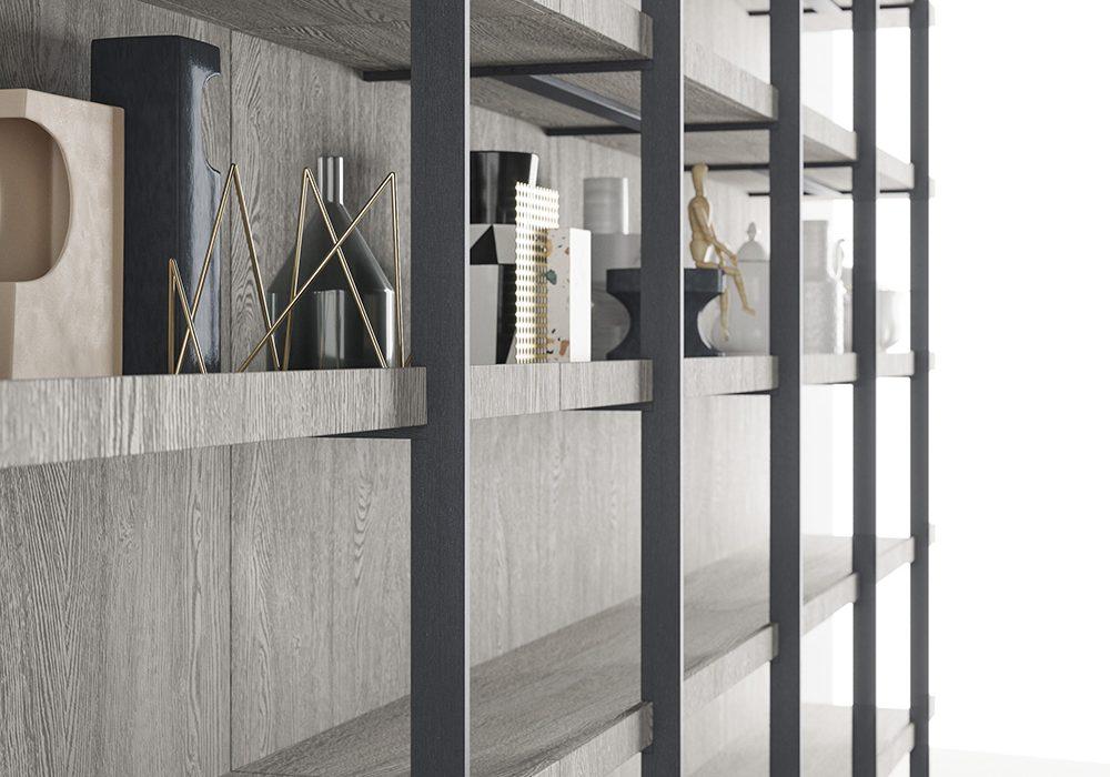 Libreria Metallo E Vetro.Libreria Modulare Segni Living Di Zampieri Arredare Con Stile