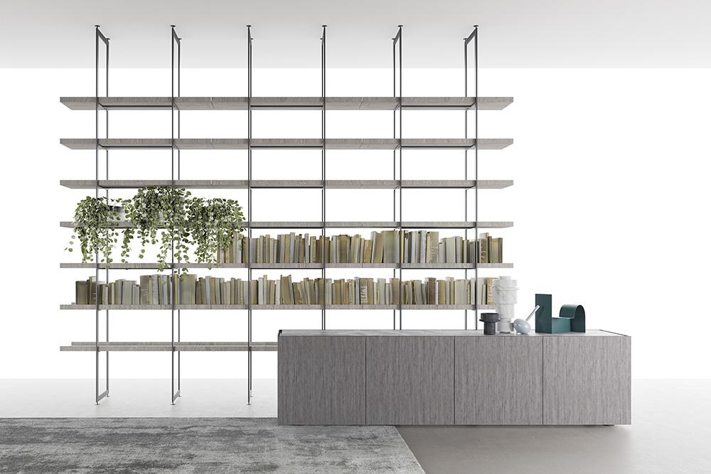 Librerie In Metallo Componibili.Libreria Modulare Segni Living Di Zampieri Arredare Con Stile