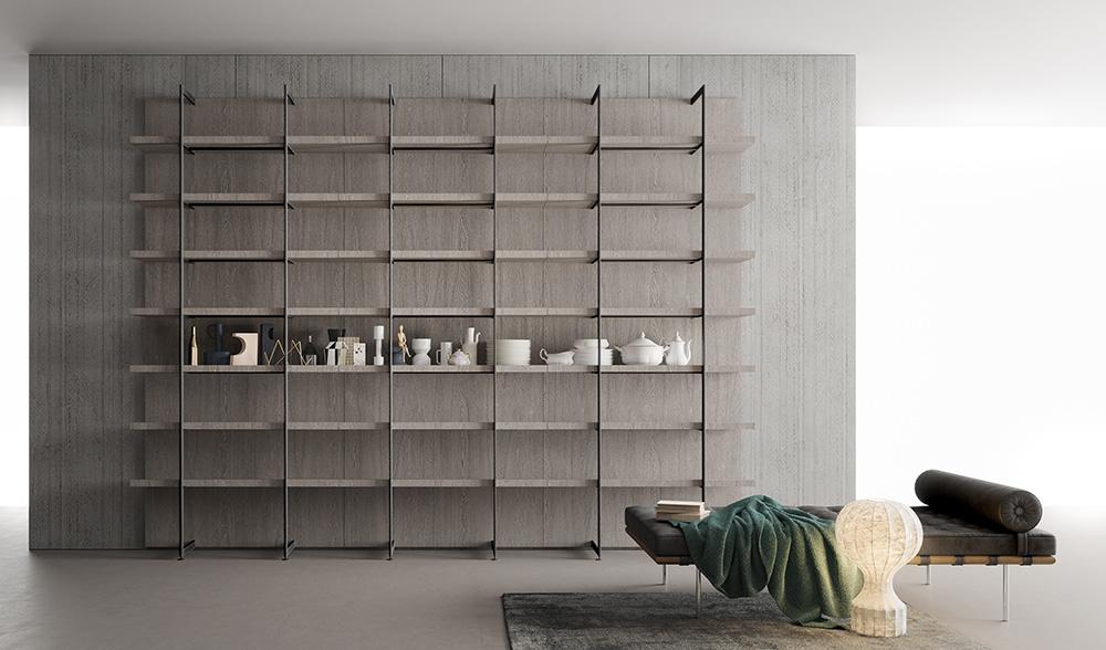 Libreria Metallo Modulare.Libreria Modulare Segni Living Di Zampieri Arredare Con