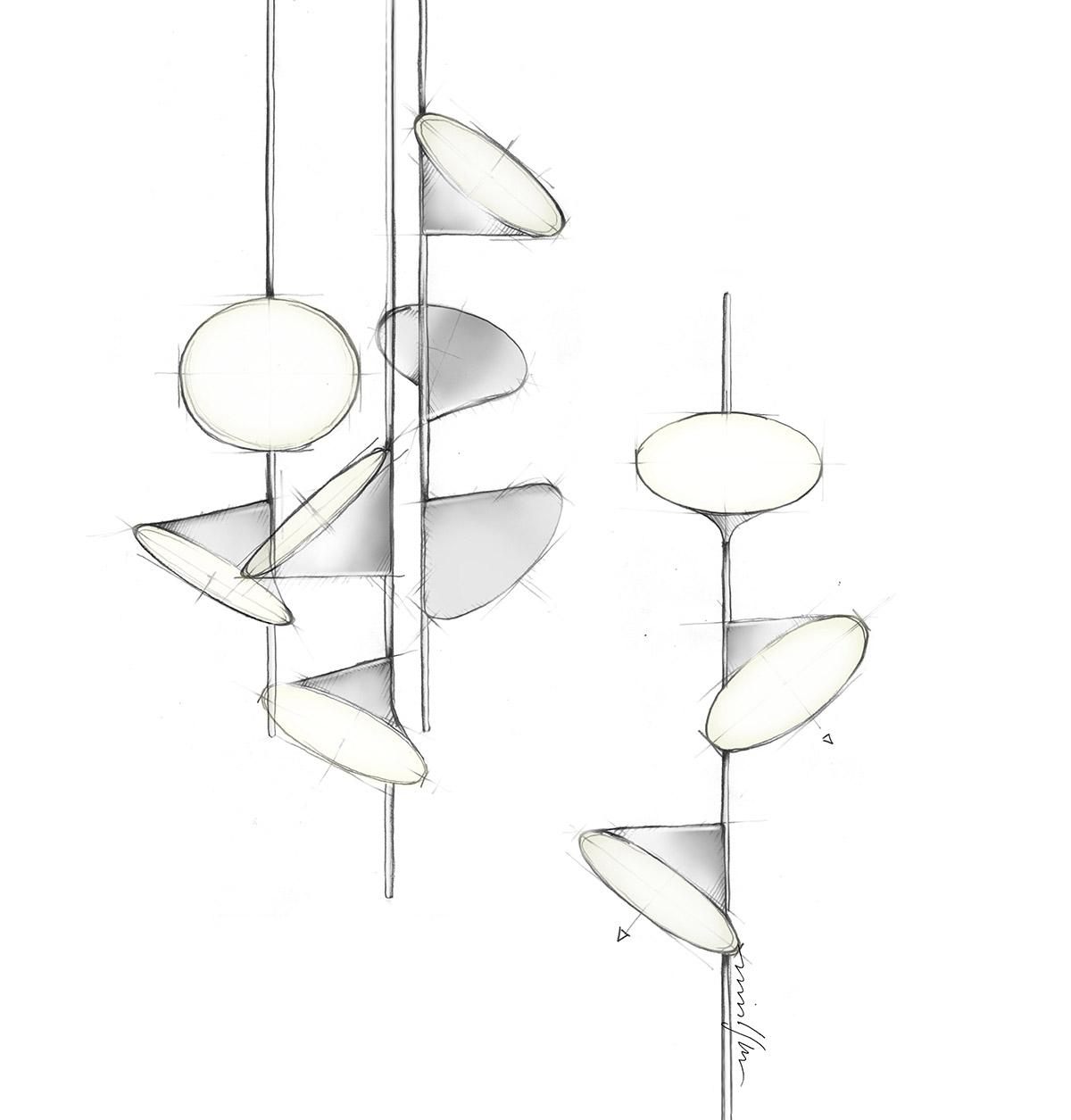 Lampade Orchid di Axolight: illuminazione di design ispirata dalla natura