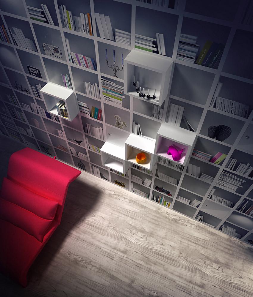 Book Access di Instabilelab: la sorprendente carta da parati ad effetto libreria