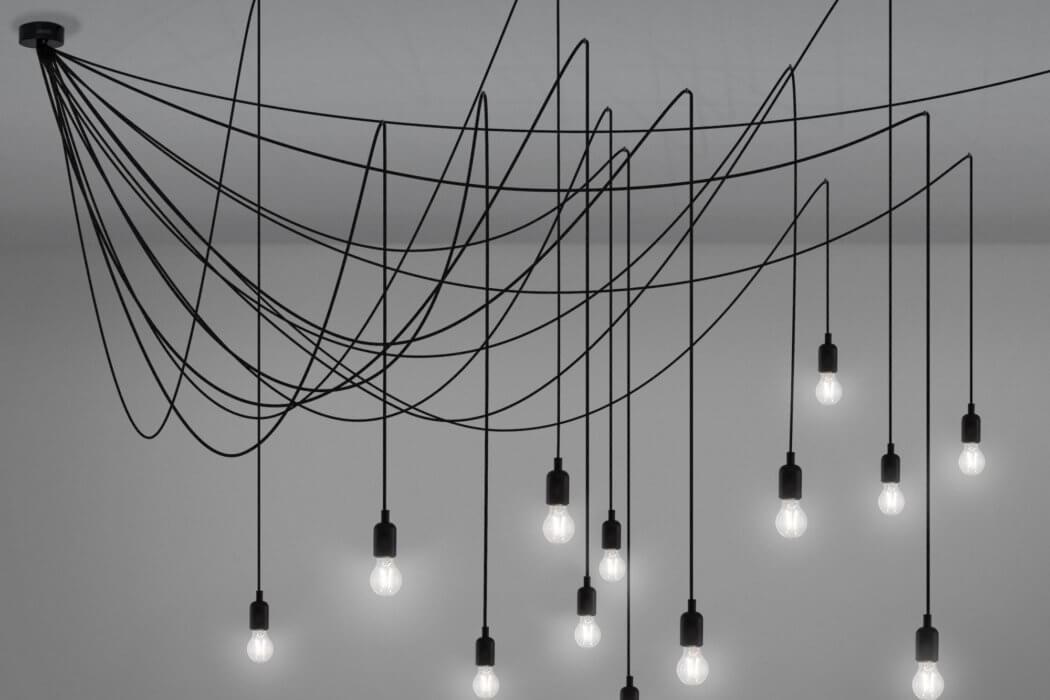 Scenografica illuminazione a soffitto maman by seletti arredare