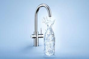 Acqua frizzante dal rubinetto di casa con Grohe Blue Home