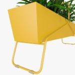 fioriera outdoor fermob basket giallo canarino dettaglio