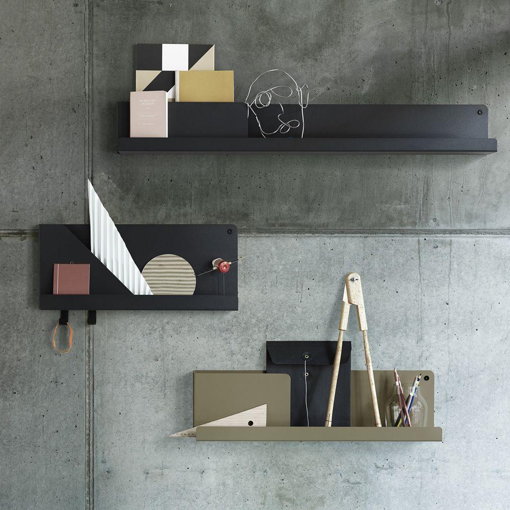 Mensole in acciaio Folded Shelves di Muuto
