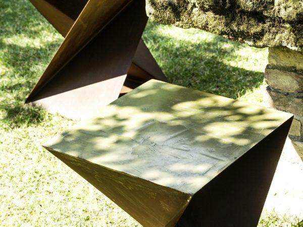 Il Giardino di Corten sgabelli arredo giardino in acciaio corten