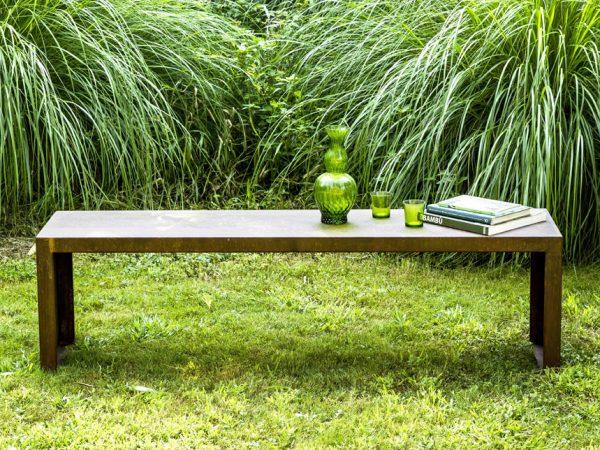 Il Giardino di Corten tavolino esterno in acciaio