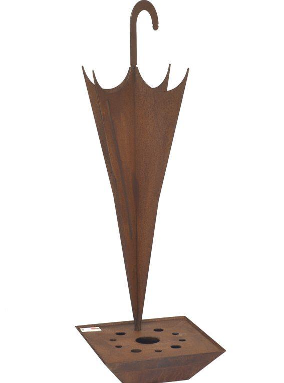 porta ombrelli design in acciaio corten