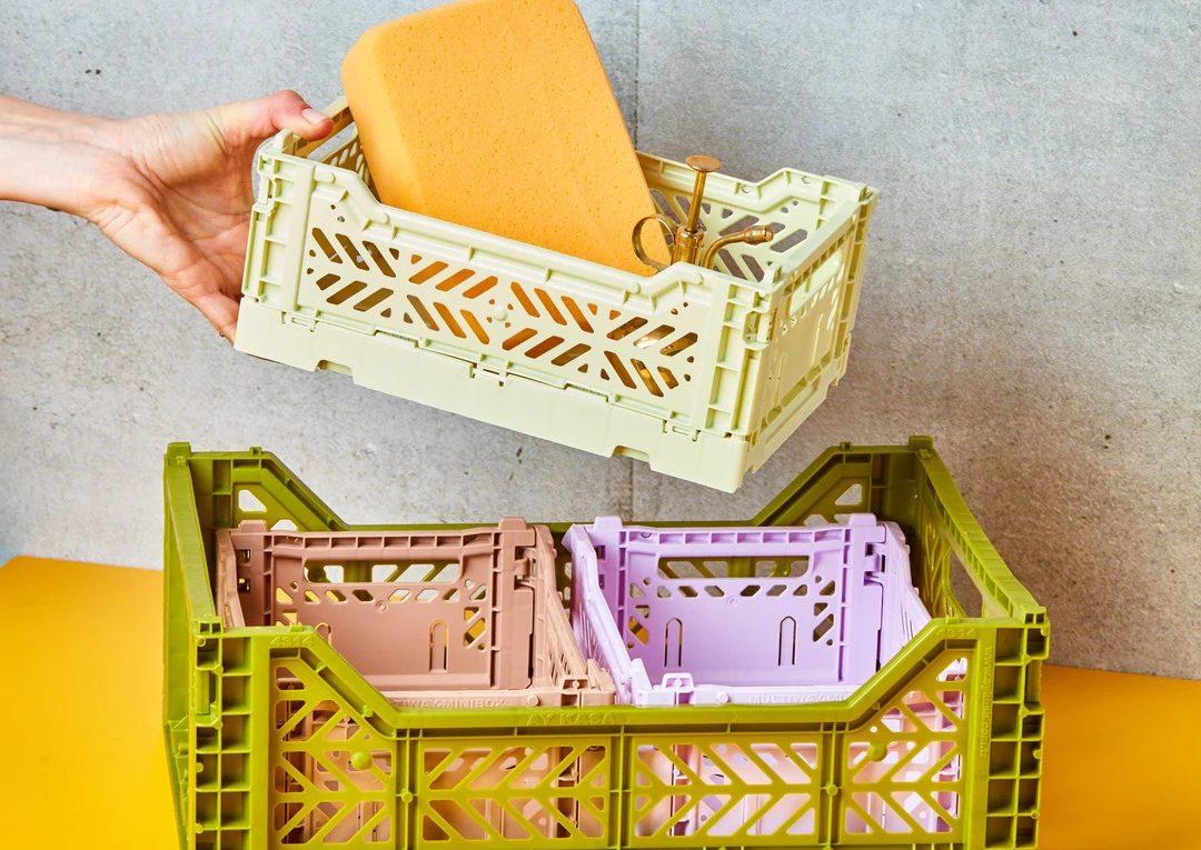 contenitore plastica colorato colour crate hay